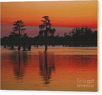 My Louisiana Heart Wood Print by Luana K Perez