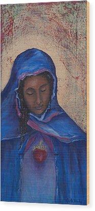 My Magdalen Heart Wood Print by Carla Woody