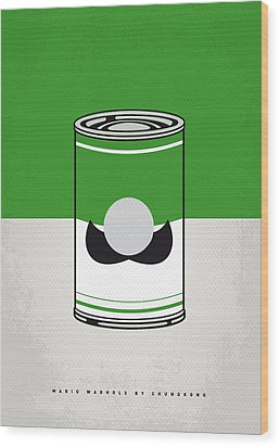 My Mario Warhols Minimal Can Poster-luigi Wood Print by Chungkong Art