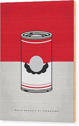 My Mario Warhols Minimal Can Poster-mario Wood Print by Chungkong Art