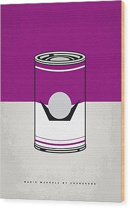 My Mario Warhols Minimal Can Poster-waluigi Wood Print by Chungkong Art