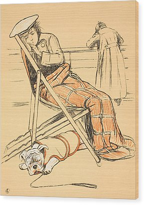 My Miserable Mistress Wood Print by Cecil Charles Windsor Aldin