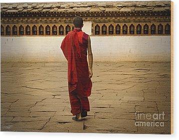 Wood Print featuring the digital art My Monastery  by Angelika Drake