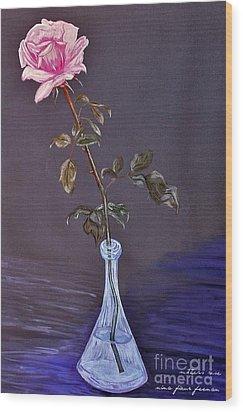 My Mothers Rose Wood Print by Nina Ficur Feenan