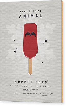My Muppet Ice Pop - Animal Wood Print by Chungkong Art