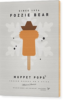 My Muppet Ice Pop - Fozzie Bear Wood Print by Chungkong Art