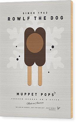 My Muppet Ice Pop - Rowlf Wood Print by Chungkong Art