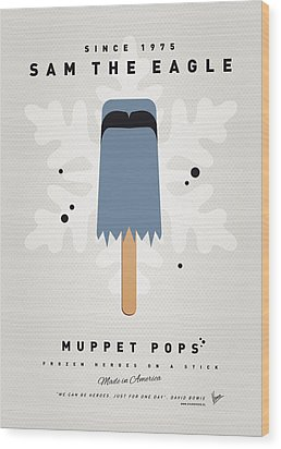 My Muppet Ice Pop - Sam The Eagle Wood Print by Chungkong Art