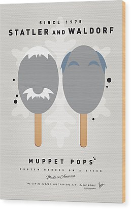 My Muppet Ice Pop - Statler And Waldorf Wood Print by Chungkong Art
