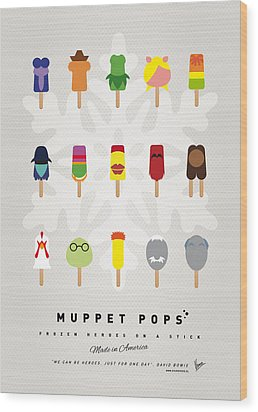 My Muppet Ice Pop - Univers Wood Print by Chungkong Art