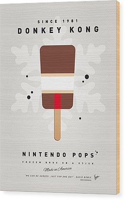 My Nintendo Ice Pop - Donkey Kong Wood Print by Chungkong Art