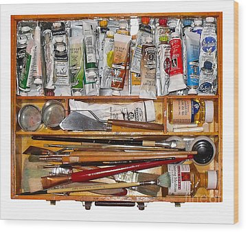My Paint Box Wood Print by Val Miller