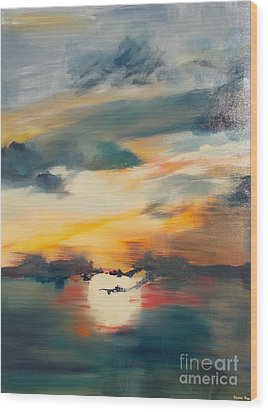 My Paradise Sunrise Wood Print by PainterArtist FIN