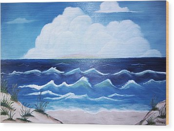 My Private Beach Wood Print by Dwayne Barnes