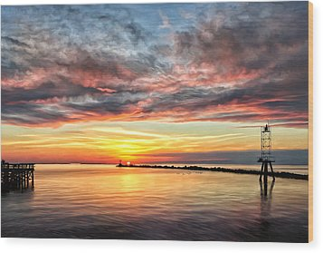My Return To Cape Charles Virginia Wood Print by Michael Pickett