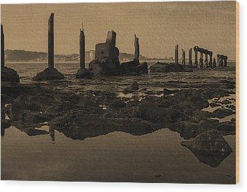 My Sea Of Ruins IIi Wood Print by Marco Oliveira