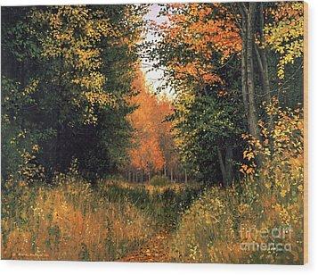 My Secret Autumn Place Wood Print