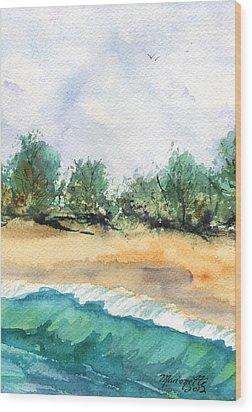 My Secret Beach Wood Print by Marionette Taboniar