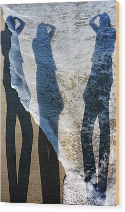 My Shadow Follows Me Wood Print by Betsy Knapp