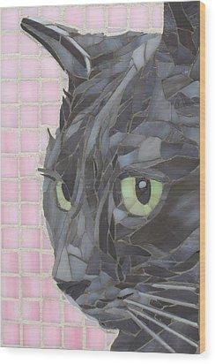 My Shadow Wood Print by Linda Pieroth Smith