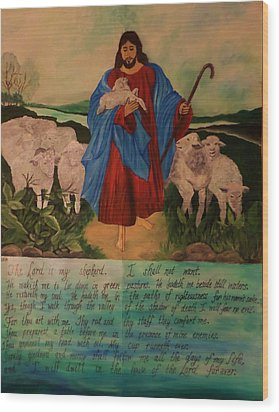 My Shepherd Wood Print by Christy Saunders Church