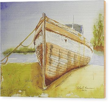 My Ship Came In Wood Print by Robert  ARTSYBOB Havens