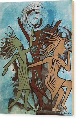 My Spirit Dances Wood Print