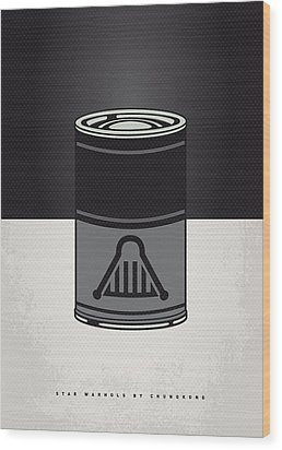 My Star Warhols Darth Vader Minimal Can Poster Wood Print by Chungkong Art