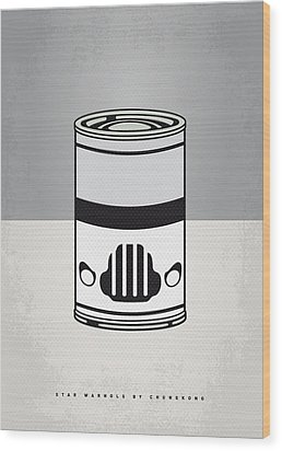 My Star Warhols Stormtrooper Minimal Can Poster Wood Print by Chungkong Art