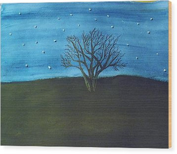 My Starry Sky Wood Print