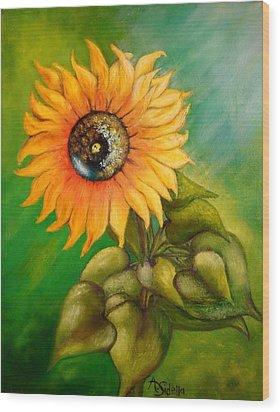 My Sunshine Wood Print by Annamarie Sidella-Felts