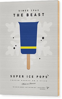My Superhero Ice Pop - The Beast Wood Print by Chungkong Art