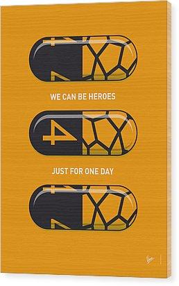 My Superhero Pills - The Thing Wood Print by Chungkong Art