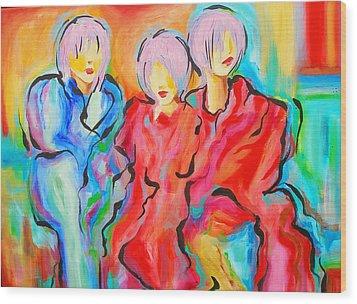 My Three Muses Wood Print by Susi Franco