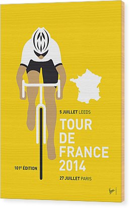 My Tour De France Minimal Poster 2014 Wood Print by Chungkong Art