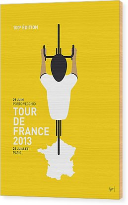 My Tour De France Minimal Poster Wood Print