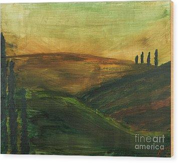 My Tuscany  Wood Print by Katy  Scott