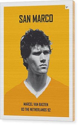 My Van Basten Soccer Legend Poster Wood Print by Chungkong Art