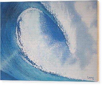 My Wave Wood Print by Jeff Lucas