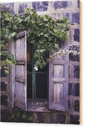 My Window Wood Print by Jamil Alkhoury