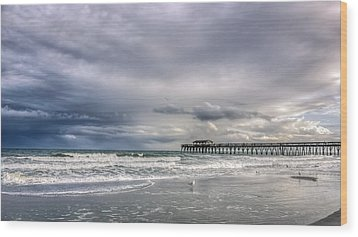 Myrtle Beach Fishing Pier Wood Print