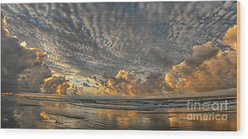 Myrtle Beach Panorama 2 Wood Print by Jeff Breiman