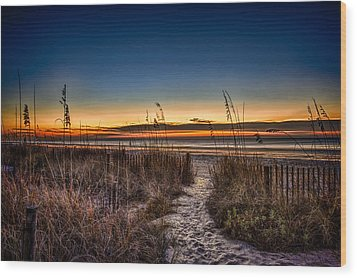 Myrtle Beach Path Wood Print by Joshua Minso