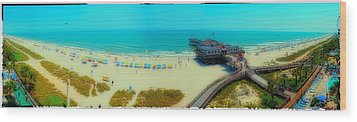 Wood Print featuring the photograph Myrtle Beach South Carolina by Alex Grichenko