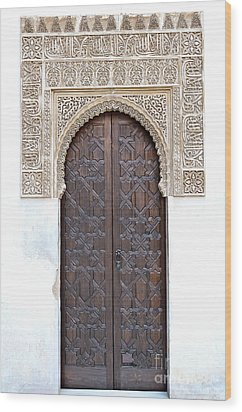 Myrtle Doorway Wood Print by Marion Galt