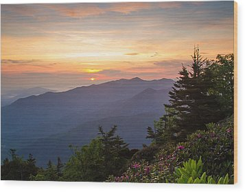Myrtle Point - Mt Leconte Wood Print by Doug McPherson