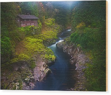 Mysteries Of The Lewis House Wood Print by Darren  White