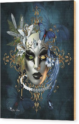 Mysteries Of The Mask 1 Wood Print