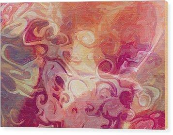 Mysterious Beauty Wood Print by Omaste Witkowski