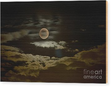 Mysterious Moon Wood Print by Boon Mee
